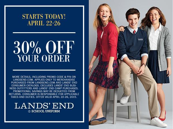 b983c64e08d Lands' End Uniform Sale -April 22nd – 26th – Dayton Christian Elementary