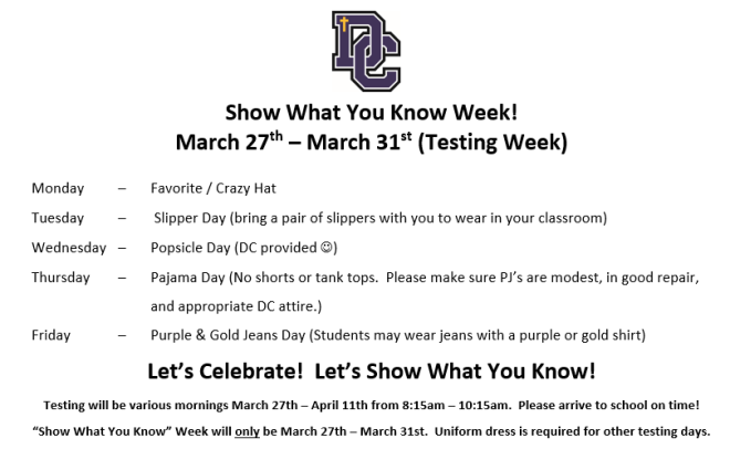 Show What You Know Week_March 27_31_2017
