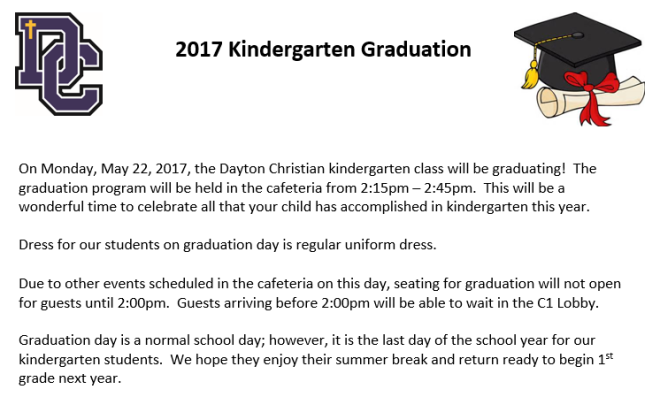 Kindergarten Graduation_May 2017