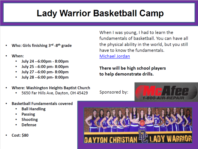 Lady Warrior Basketball Camp_Page 1